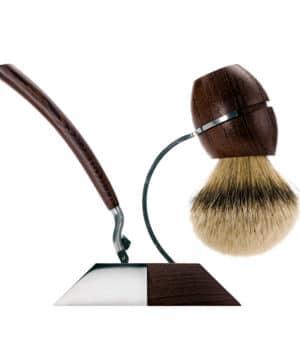 Acca Kappa Set za brijanje od Wenge drveta sa brijacem