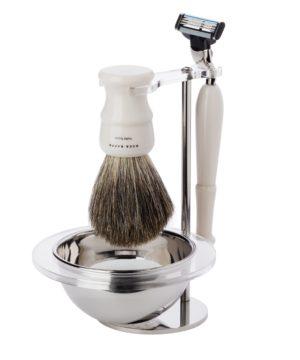 Acca Kappa Set cetka za brijanje od ciste dlake jazavca, Mach 3 i sapun za brijanje