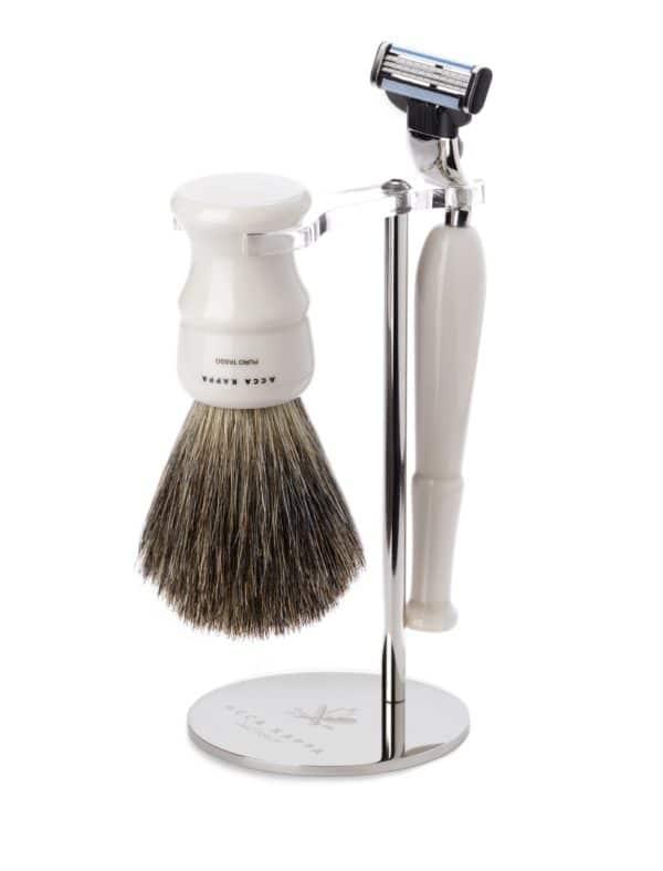Acca Kappa Set cetka za brijanje od ciste dlake jazavca i Mach 3