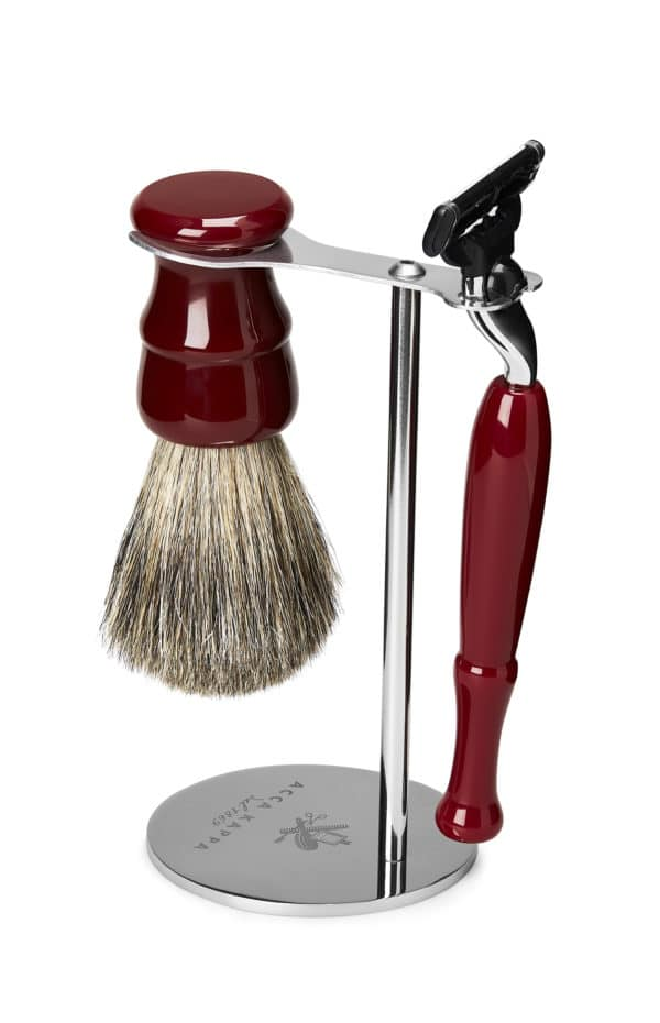 """Acca Kappa Set cetka za brijanje od dlake jazavca i brijac """"Mach 3"""""""